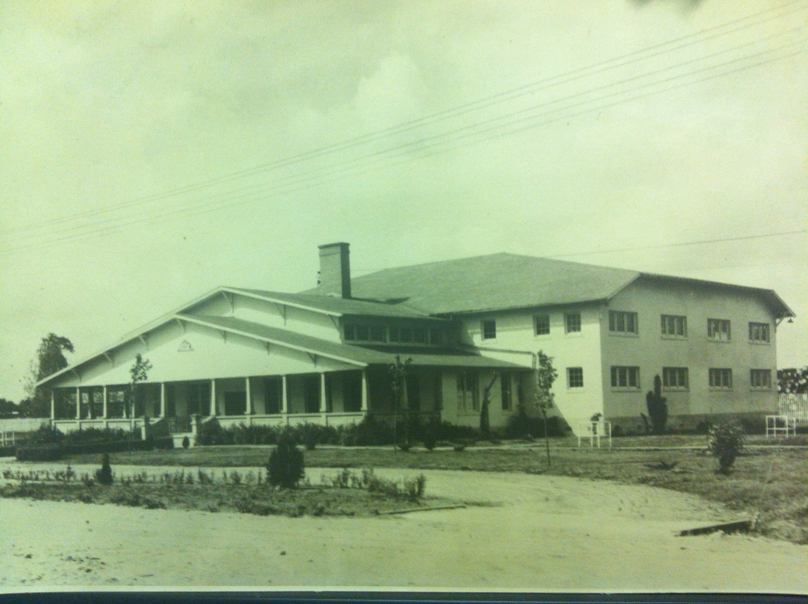Old picture of the historic Community House in its early years